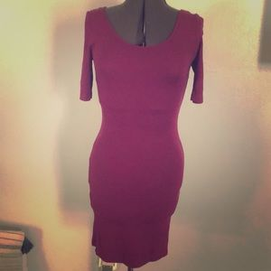 Purple bodycon H&M dress